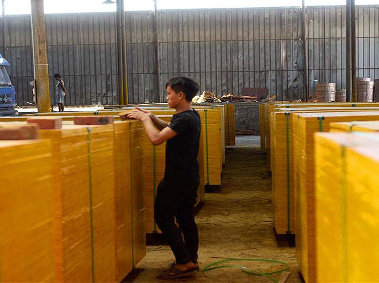 建筑木模板生产